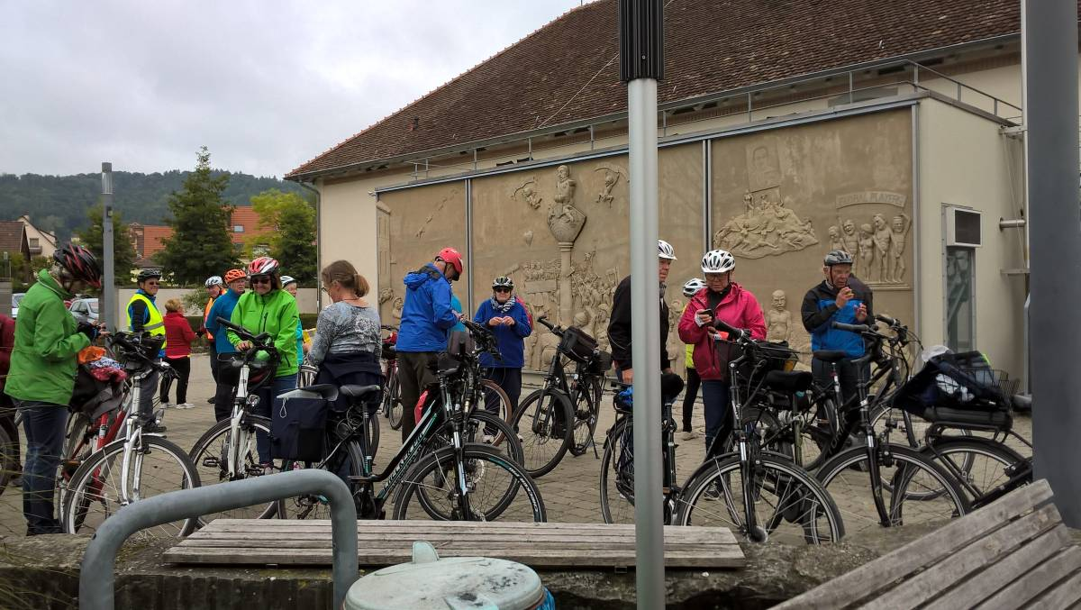 Fahrrad-Tour am Lenk-Relief in Ludwigshafen am Bodensee